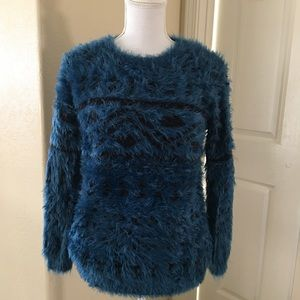 Forever 21 Blue Fuzzy sweater size small